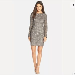 Adrianna Papell Sequin Cocktail Dress sz 8